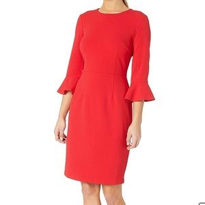 Donna Morgan Sheath Dress 3/4 Bell Sleeve